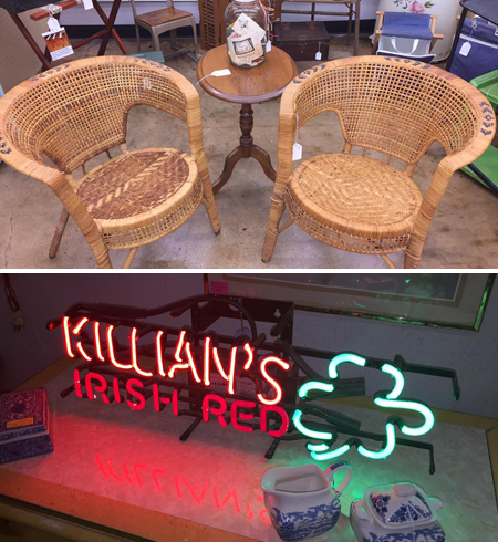 Neon Sign and Chairs